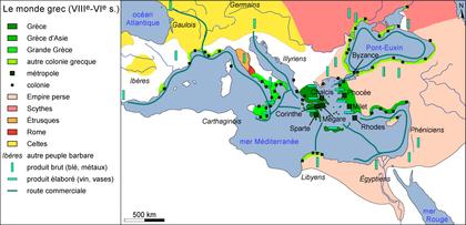 Le monde grec méditerranéen aux VIII-VIe siècles av. J.-C. - illustration 1
