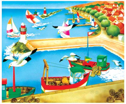 Le port de pêche - illustration 1