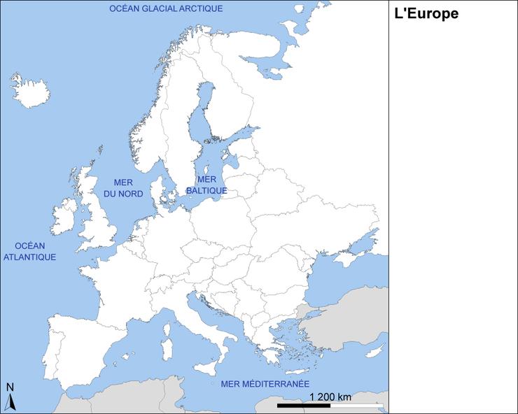 Carte De Leurope A Imprimer Gratuitement.L Europe Fond De Carte Assistance Scolaire Personnalisee