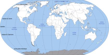 Le monde : fond de carte - illustration 1