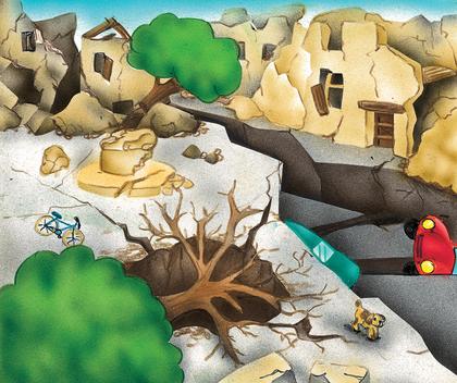 Les dégâts causés par un séisme - illustration 1