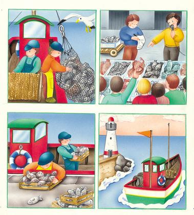 Le travail des pêcheurs - illustration 1