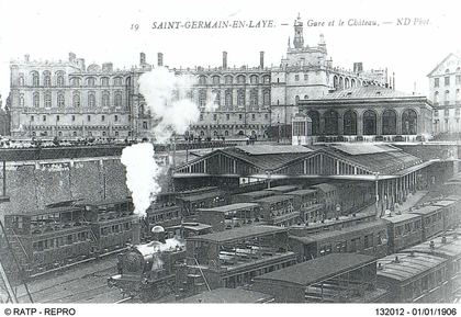 Gare de Saint-Germain-en-Laye au temps de la vapeur - illustration 1