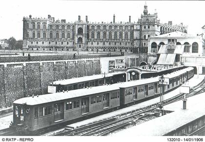 Gare de Saint-Germain-en-Laye au temps des rames électriques - illustration 1