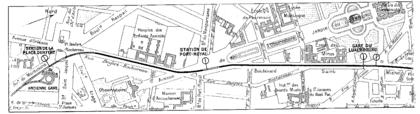 Plan du prolongement de le ligne de Sceaux - illustration 1