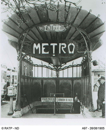 Entrée de station de métro par Hector Guimard - illustration 1
