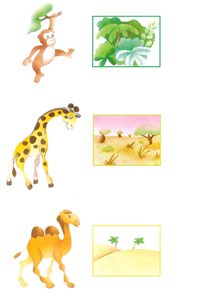 L'habitat des animaux d'Afrique - illustration 1