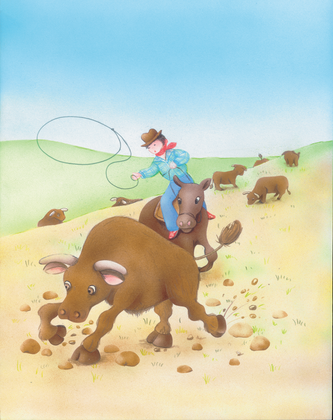 Le cow-boy américain - illustration 1