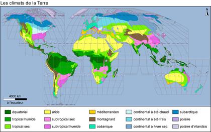 Les climats de la Terre - illustration 1