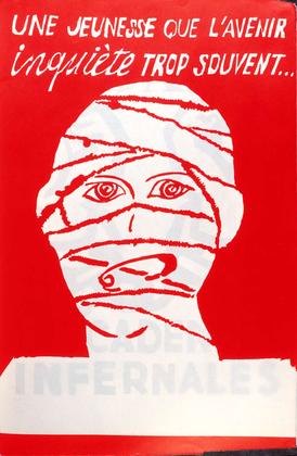 « Une jeunesse que l'avenir inquiète trop souvent... » (affiche) - illustration 1