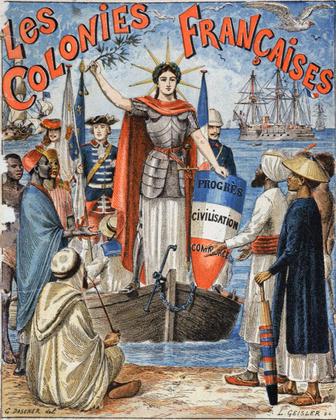 « Les colonies françaises » (illustration d'un cahier scolaire) - illustration 1