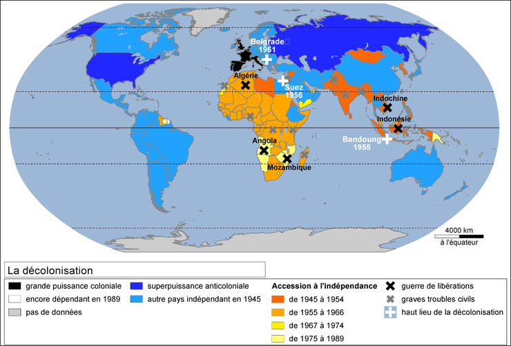 revision annales histoire terminale decolonisation consequences annees hrde