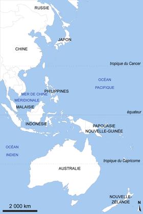 L'aire Pacifique : fond de carte - illustration 1
