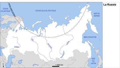 La Russie : fond de carte - illustration 1