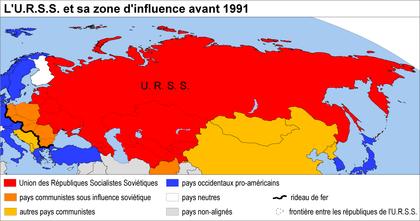 L'URSS et sa zone d'influence avant 1991 - illustration 1