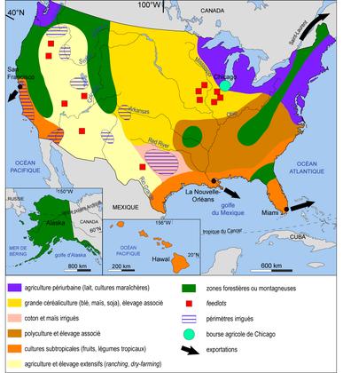 Les espaces agricoles des États-Unis - illustration 1