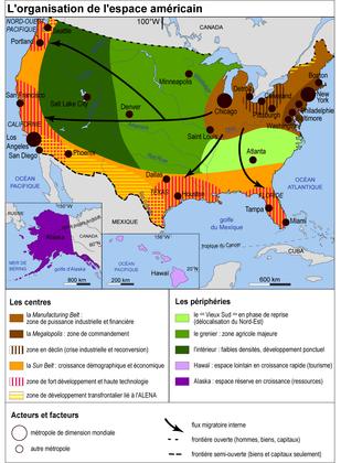 Les États-Unis : l'organisation du territoire - illustration 1