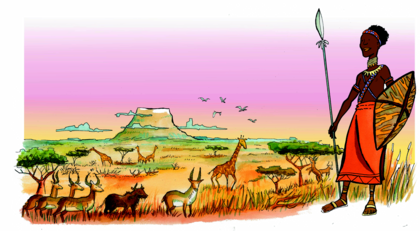 L'antilope et la girafe