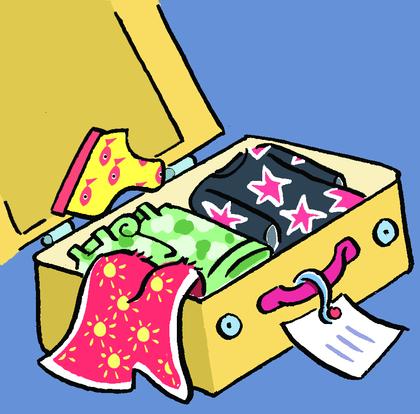 Une valise bien pleine !