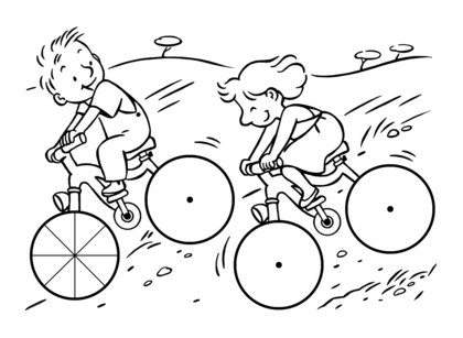 Une descente à vélo