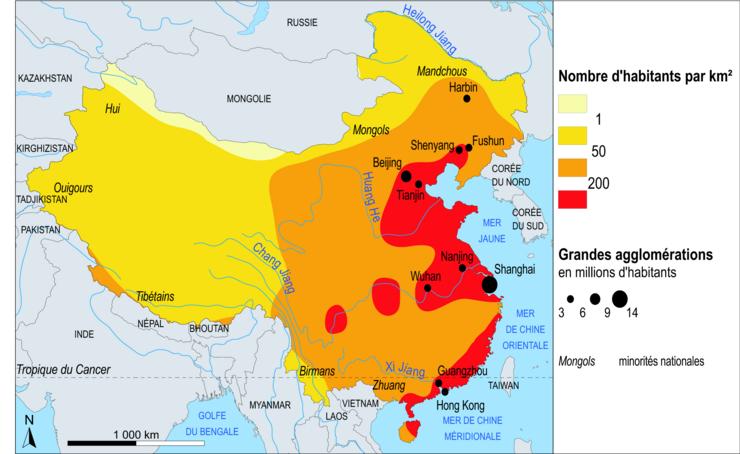 Evolution Population Chine de la Population en Chine