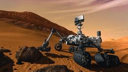 Vue d'artiste du robot Curiosity