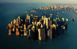 Vue d'artiste de New York sous les eaux