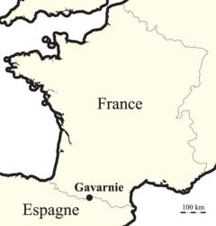 Carte simplifiée du métamorphisme de la région de Gavarnie