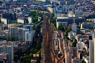 Paysage urbain au sud de Paris